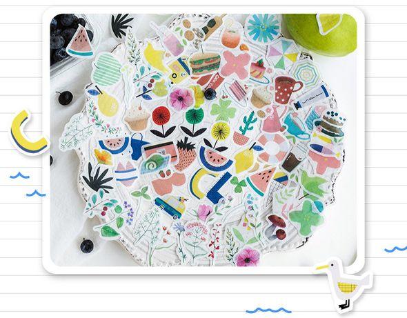 Декоративные канцелярские наклейки скрапбукинг (3см на 3см). 40 шт