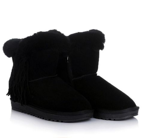 Черные женские угги зимние натур зима обувь! 36-41 ХИТ! НАЛОЖКА
