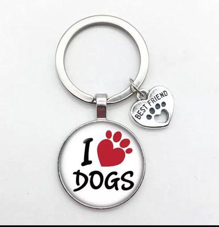 Porta-chaves NOVOS tema cães e gatos