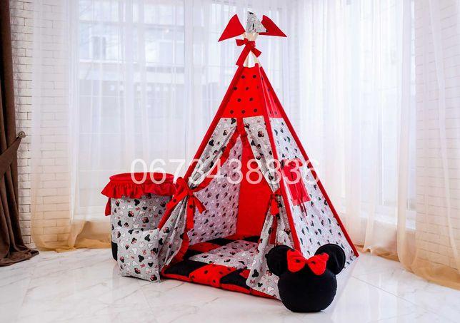 ХИТ! Палатка Вигвам «МИККИ МАУС» Серо-Красный. В наличии! VIGVAM ELIT
