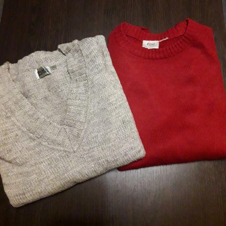 Свитер джемпер пуловер серый красный 2 шт