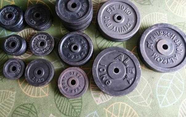 Obciążenie żeliwne stalowe gryf ławeczka siłownia hantle kettlebell