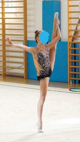 Strój startowy gimnastyka artystyczna 130-140 cm
