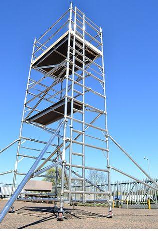 Rusztowanie aluminiowe jezdne firmy Euro Tower Boss wieza robocza