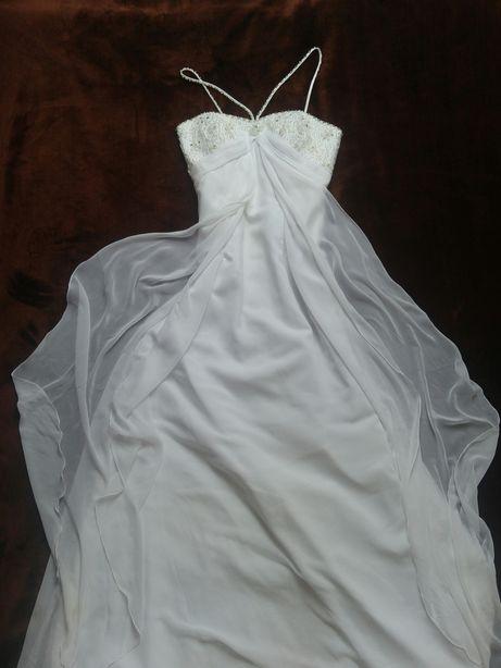 Suknia ślubna z trenem 36/38 z salonu Loretta