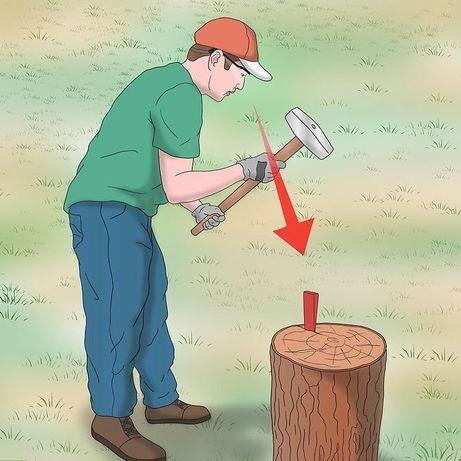 Клинця колоти дрова