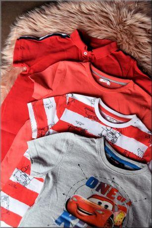 4 koszulki z krótkim rękawem dla chłopca, T-shirty, cars, 110, 4,5 lat
