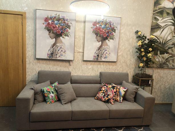 Sofa com tecido de alta qualidade cinza