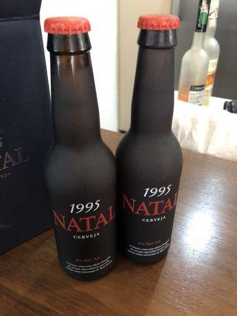 4 garrafas natal unicer natal 1995 edição especial