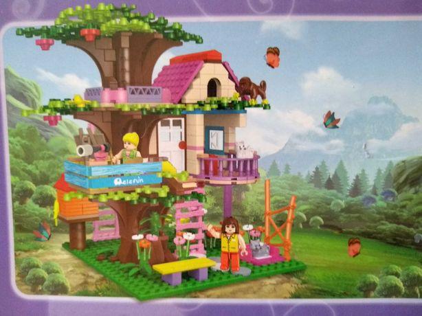 Klocki domek na drzewie miasto j.Lego Friends city lalka księżniczki