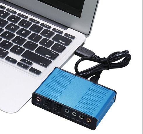 Внешняя USB звуковая аудио карта 5.1 на 6 каналов SPDIF/оптика/CM6206