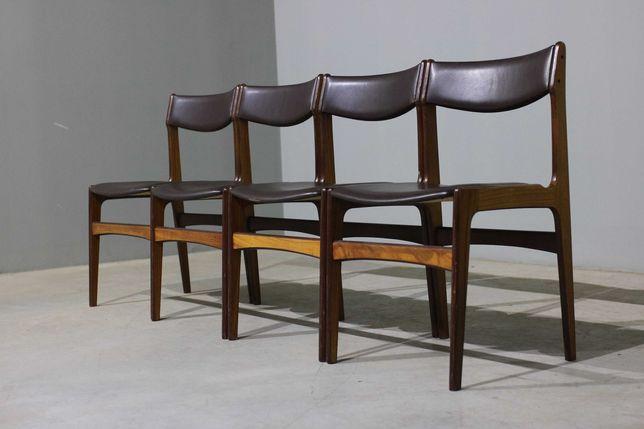 Conjunto de 4 cadeiras nórdicas em pau santo | Sala de jantar pequena