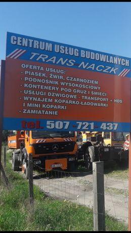 usługi budowlane transport ziemi usługi dźwigowe,dźwig HDS,koparka.