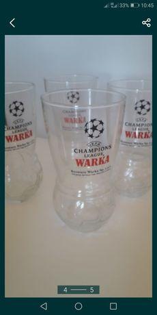 Szklanki piłkarskie Warka.