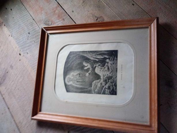 Obraz heliograwiura Grottger Widzenie w katordze