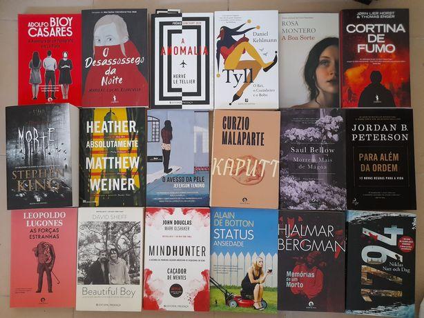 Livros como novos: Stephen King, Adolfo Bioy Casares, Alain de Botton