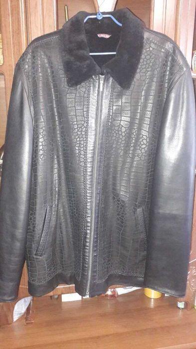 Продам куртку мужскую кожанную зимнюю Донецк - изображение 1