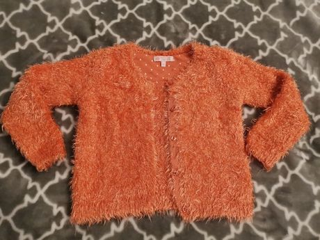 Puszysty rozpinany ciepły sweterek C&a 110