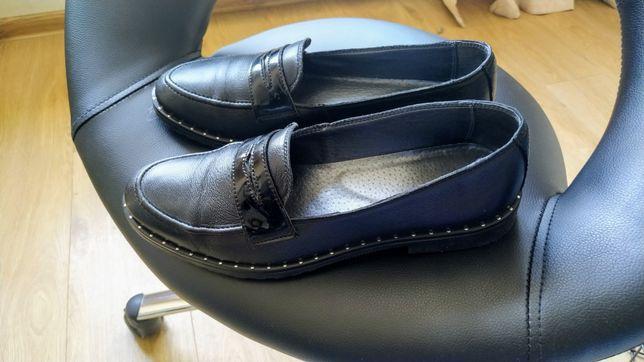 Туфли кожаные демисезонные 39 р.
