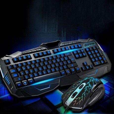 Проводная игровая клавиатура с подсветкой и мышкой V100P