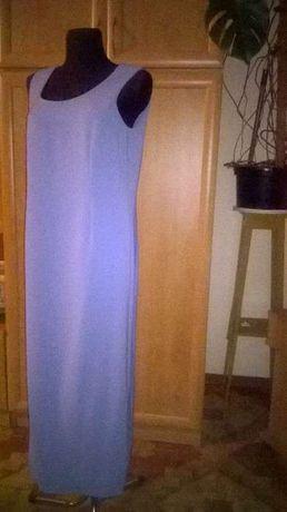 sukienka dluga wkolorze lawendy