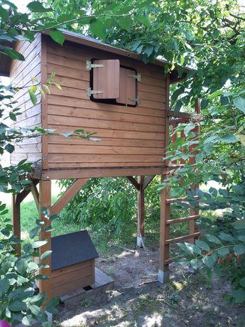 Domek dla dzieci drewniany