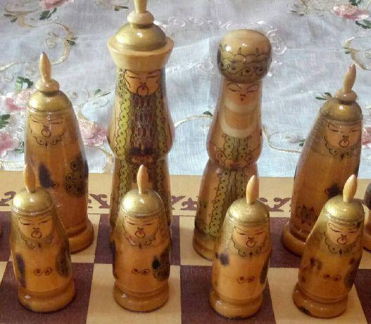 Шахматы деревянные Монголия