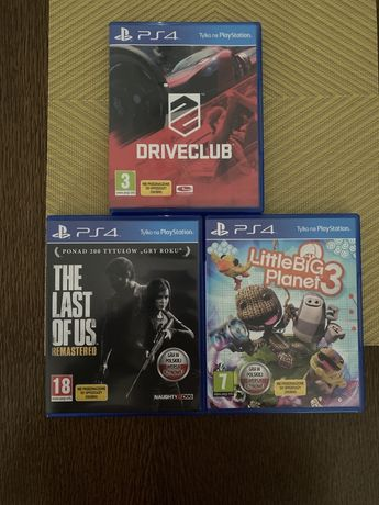 PlayStation Ps 4 DriveClub, Little Big Planet, The Last Of Us!