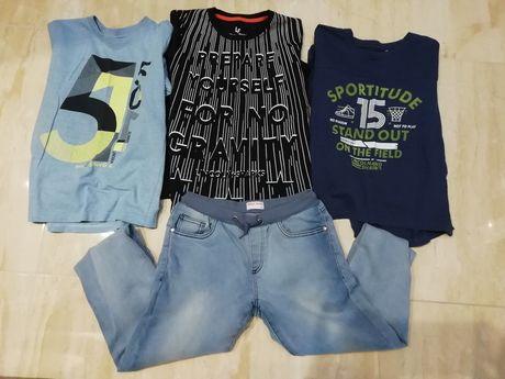 Zestaw ubrań bluzki i spodnie firmy 5-10-15 roz. 146