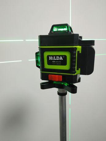 Nowy samopoziomujący laser krzyżowy HILDA 4D 16linii pilot poziomnica