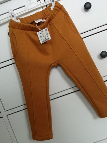 Zara 104 spodnie Legi baggy