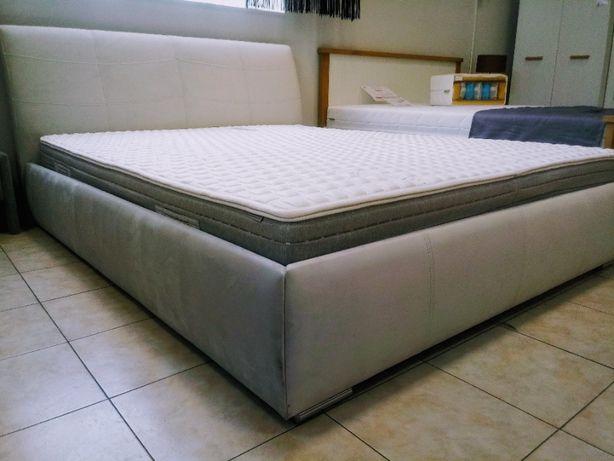 Łoże sypialniane łóżko tapicerowane 160x200 szare Apollo New Elegance