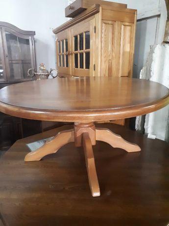 Stolik kawowy ława drewniana dębowa jasna DOWÓZ