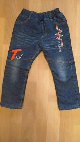 Детские зимние штаны на мальчика на флисе 110-116см