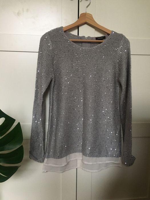 szary sweter z cekinami Esmara Warszawa - image 1