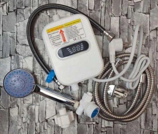 Проточный водонагреватель термостатический душевая лейка шланг