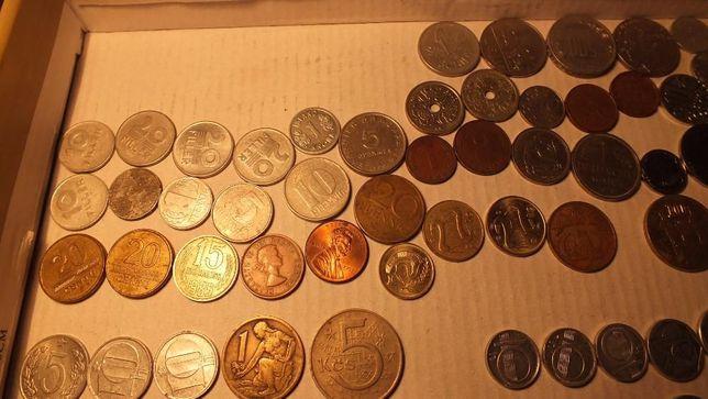 Zestaw monety i banknoty różne