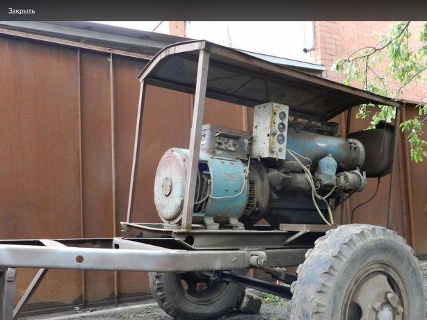 Мотор Т-40, в рабочем состоянии.
