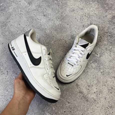 Черно-белые кожаные кроссовки Nike Air Force 38 размер 24 см jordan