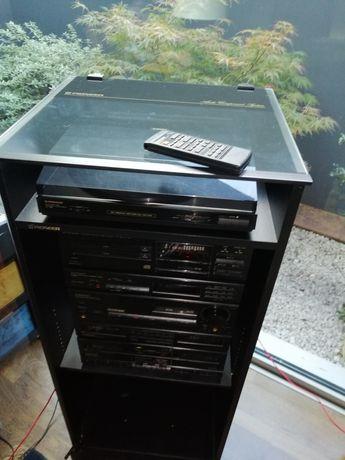 Aparelhagem PIONEER DC-Z92, gira discos leitor cassetes, CD e colunas