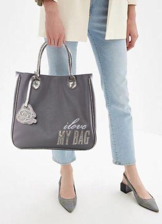 Фирменная Серая сумка Camomilla Italia, вместительная, функциональная