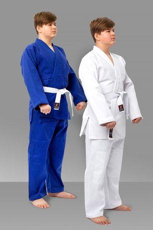 Кимоно для дзюдо джиу джитсу айкидо белое кимано кімано кімоно синее