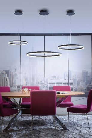 Nowoczesna czarna lampa wiszące LED TITUS 60 cm śr antracyt 2382-13