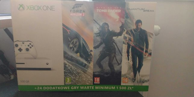 Xbox One S 500GB + pad + dwie gry