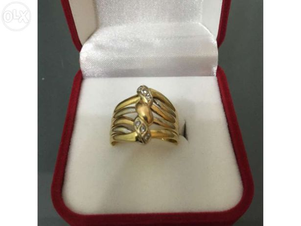 Anel em Ouro de lei tricolor, 800 ou 19,2kt