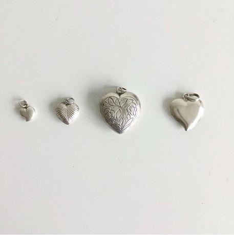 Corações em prata