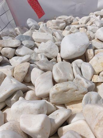 Otoczak biały, kamień ozdobny. SOLO Tuchola