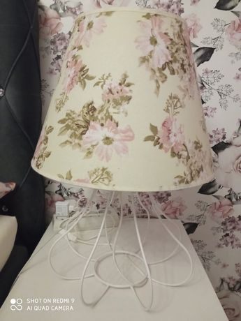 Lampki nocne białe kwiaty