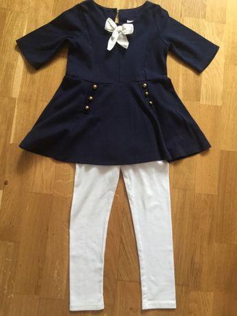 MAGGIE & ZOE платье и лосины для девочки 4-5 лет рост 110 см