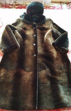 Шуба эксклюзивной коллекции Fur Natural (Россия), цигейка, р. 52-54